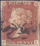 1841 1d Red SG8 Plate 20 'PI'